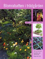 Blomrabatten i trädgården