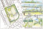 Ritning på den nyinvigda Jubileumträdgården