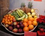 Även frukterna är färgglada och väldoftande