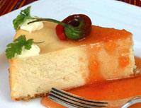 Fryst cheesecake med pelargonsmak