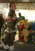 Uppvisning från Afrika