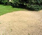 Färdigt för utrullning av gräsmattan.