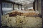 Bädden isoleras med mineralull på sidorna och med gamla madrasser ovanpå för att få igång processen.