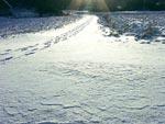 Vintersol på skarsnön