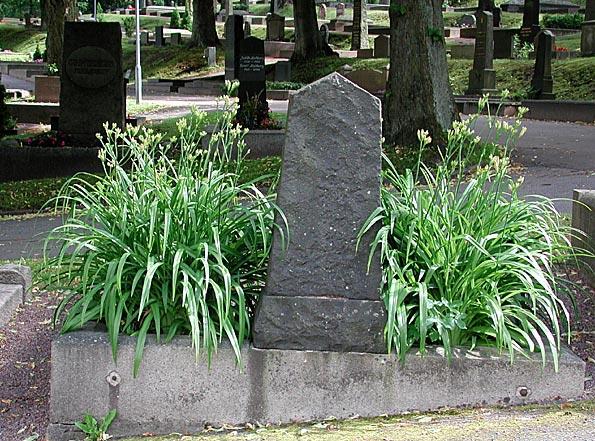 vackra blommor på graven