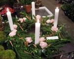 Ljuskrans med rosor