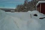 Grönsakslandet under en meter snö